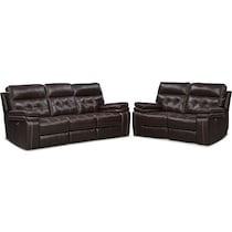 brisco brown  pc power reclining living room