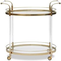 britta gold bar cart