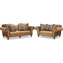 brittney bronze dark brown  pc living room