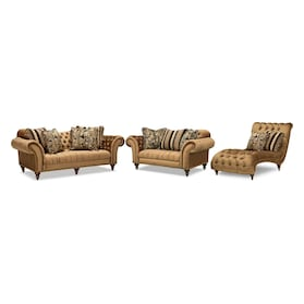 Brittney Sofa, Loveseat and Chaise