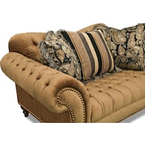 brittney bronze dark brown loveseat