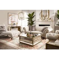 brittney linen linen chaise