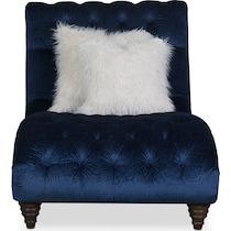 brittney navy blue chaise