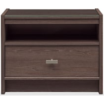 britto dark brown nightstand