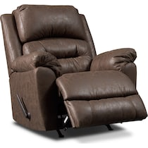 bronx dark brown manual recliner