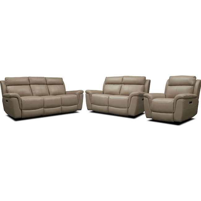 Living Room Furniture - Brooklyn Dual-Power Reclining Sofa, Loveseat, and Recliner
