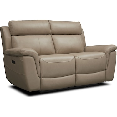 Brooklyn Dual-Power Reclining Loveseat - Ivory