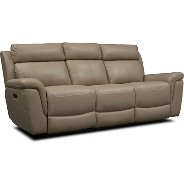 Brooklyn Dual-Power Reclining Sofa - Ivory