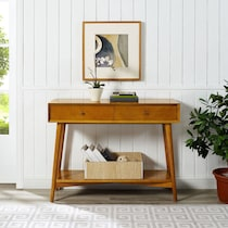 bruce dark brown console table