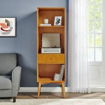 bruce light brown bookcase