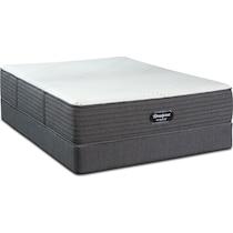 brx ip medium firm white queen mattress foundation set