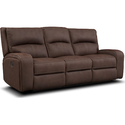 Burke Manual Reclining Sofa - Brown