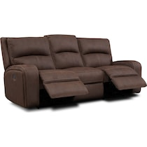 burke dark brown manual reclining sofa