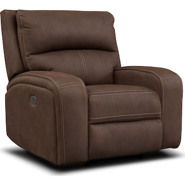 Burke Dual Power Recliner - Brown