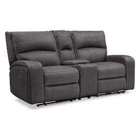 Burke Dual-Power Reclining Loveseat with Console