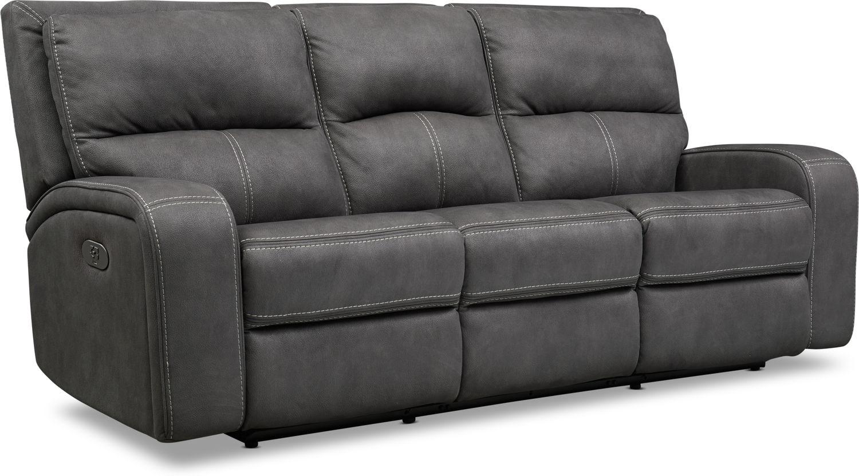 Living Room Furniture - Burke Dual-Power Reclining Sofa