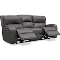 burke gray power reclining sofa
