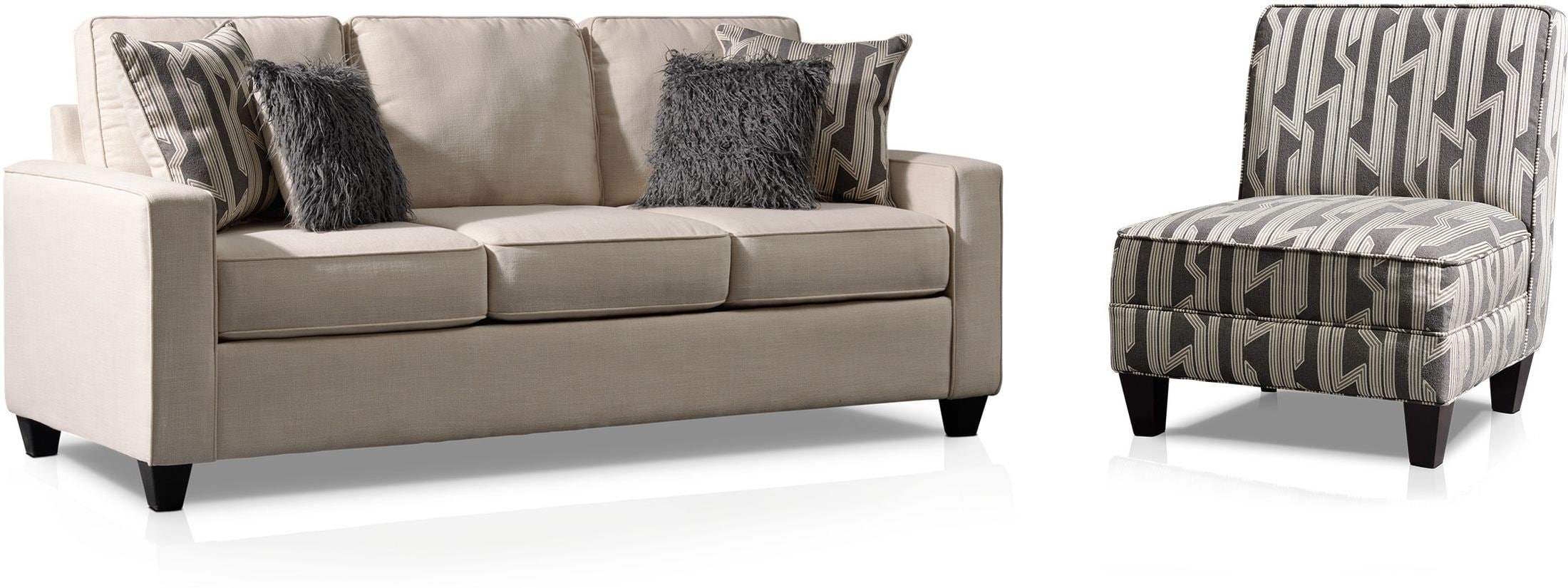 Living Room Furniture - Burton Sofa and Accent Chair Set