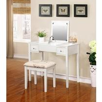 butterfly white vanity desk