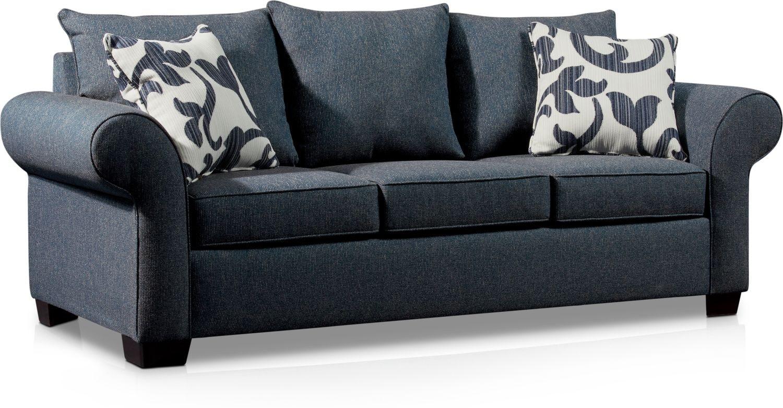 Living Room Furniture - Calloway Sofa - Blue