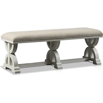 cambridge white dining bench
