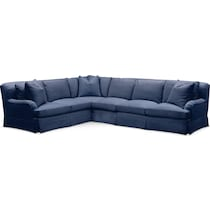 campbell blue  pc sectional with right facing sofa