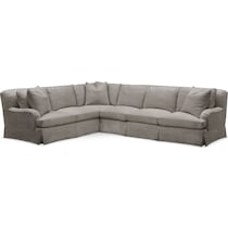 campbell gray  pc sectional with right facing sofa