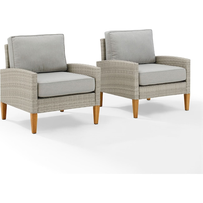 Outdoor Furniture - Capri Set of 2 Outdoor Chairs