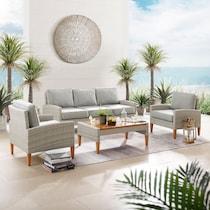 capri gray outdoor sofa set