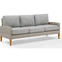 capri gray outdoor sofa
