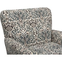 carla gray accent chair