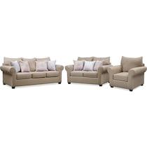 carla light brown  pc living room