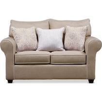 carla light brown  pc sleeper living room