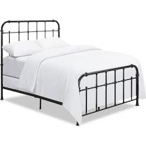carmen black queen bed