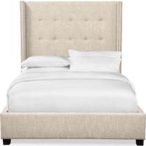 carter light brown king upholstered bed