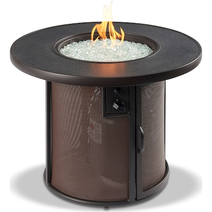 Chardon Gas Fire Table - Brown