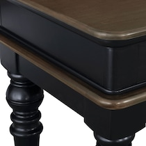 charleston black console table