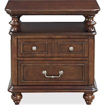 charleston dark brown nightstand