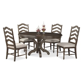 Charleston Round Dining Table and 4 Side Chairs