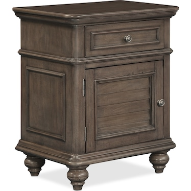 Charleston Door Nightstand - Gray