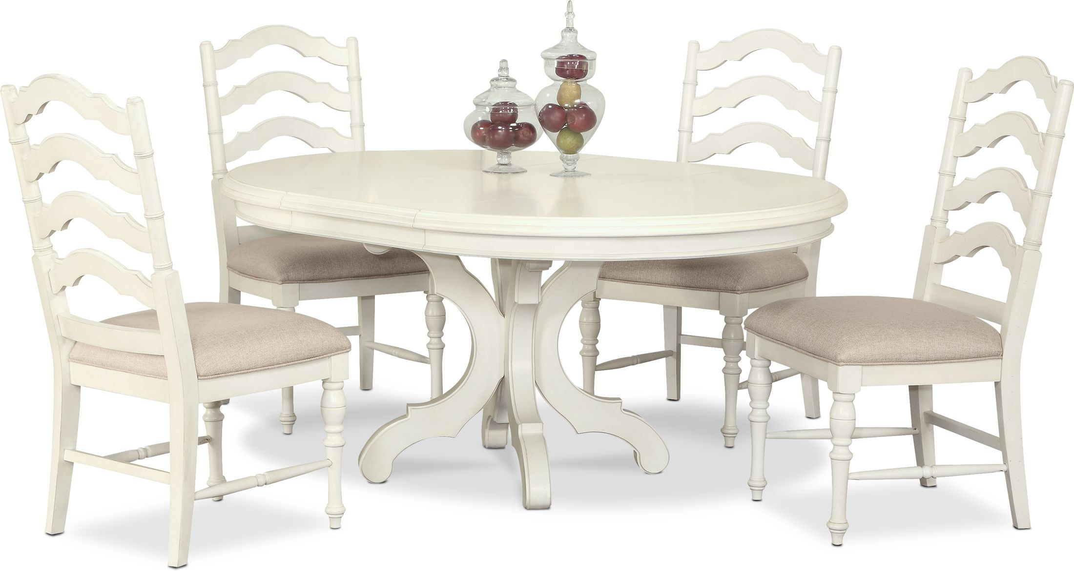 Dining Room Furniture - Charleston Round Dining Table and 4 Side Chairs