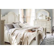 charleston white  pc king bedroom