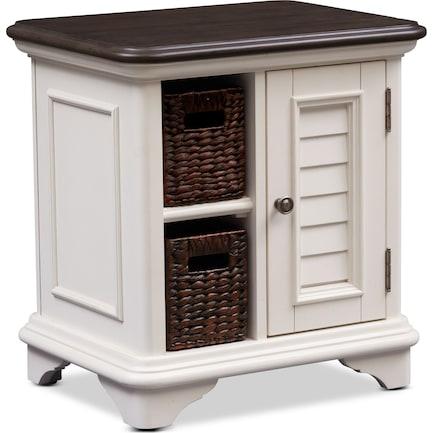 Charleston Chairside Table - Vintage White