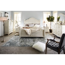 charleston white king bed