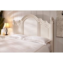 charleston white queen bed