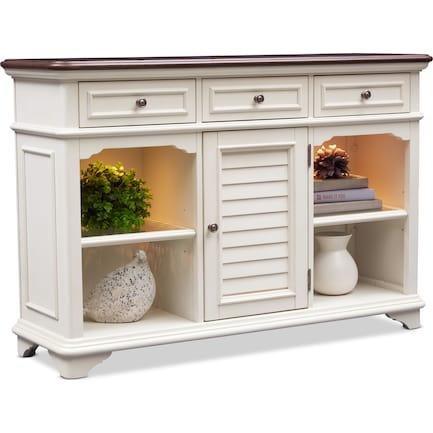 Charleston Sofa Table - Vintage White