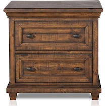 charthouse bedroom light brown nightstand