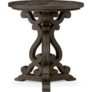 Charthouse Chairside Table - Charcoal