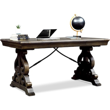 Charthouse Office Desk - Charcoal