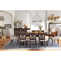 charthouse charcoal dining table